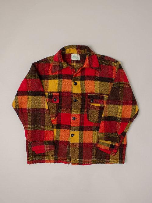 Vtg Wool Plaid Shirt (S/M)