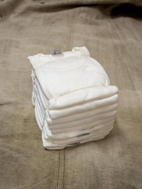 Deadstock White Cotton Military Tees
