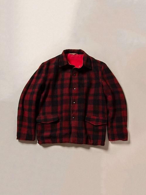 Vintage Reversible Plaid/Twill Jacket (L)