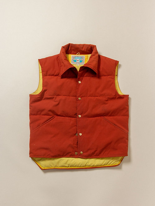 Vtg William Barry Down Vest - Made in USA (L)