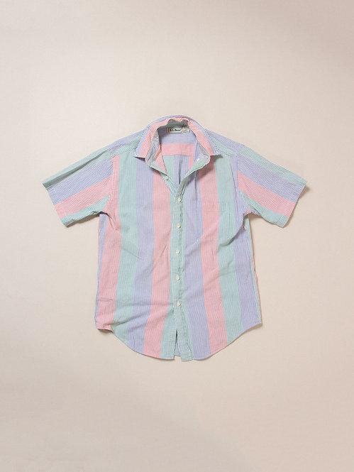 Vtg LL Bean BD Seersucker Fun Shirt (M)