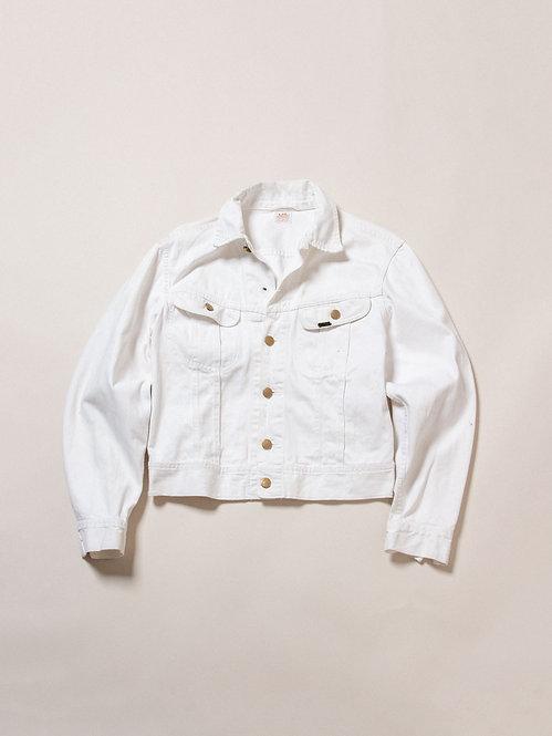 Vtg 60s Lee Westerner White Twill Jacket (S)