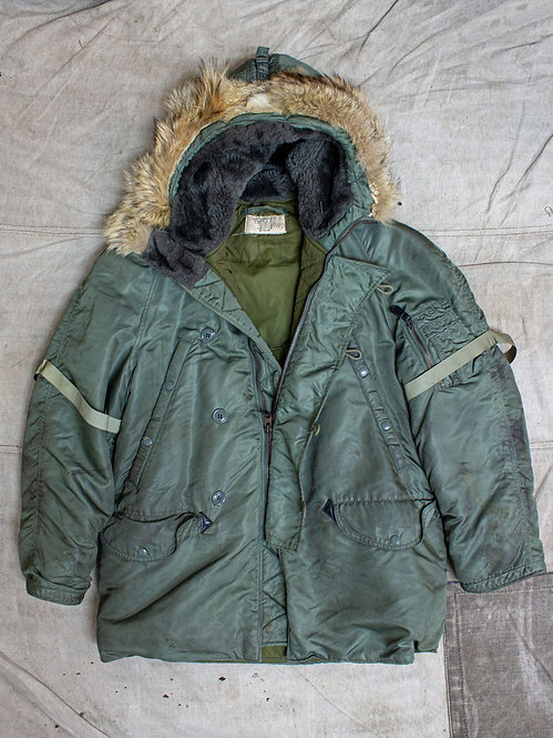 Vtg 1960s USAF N-3B Air Strip Snorkel Parka (M)