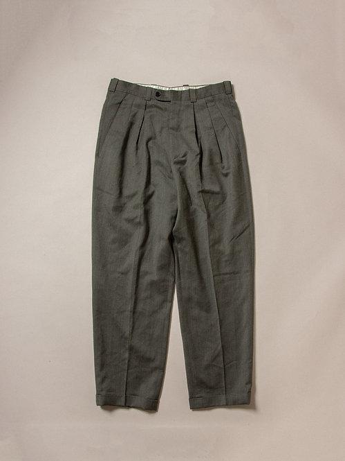 Vtg Green Wool Dress Pants (33/30)