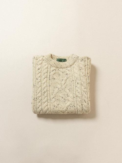 Vtg Aran Cable Knit Sweater (XL)