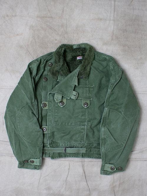 Vtg 1960s Swedish Army Dispatch Jacket (L)