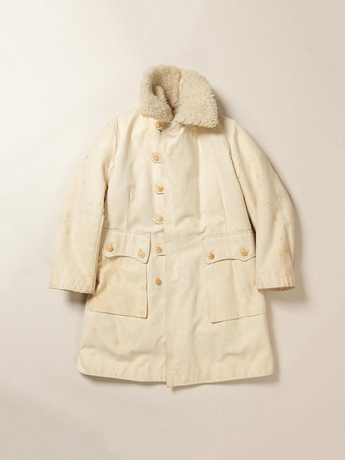 1930s Swedish Army Shearling Coat (M)