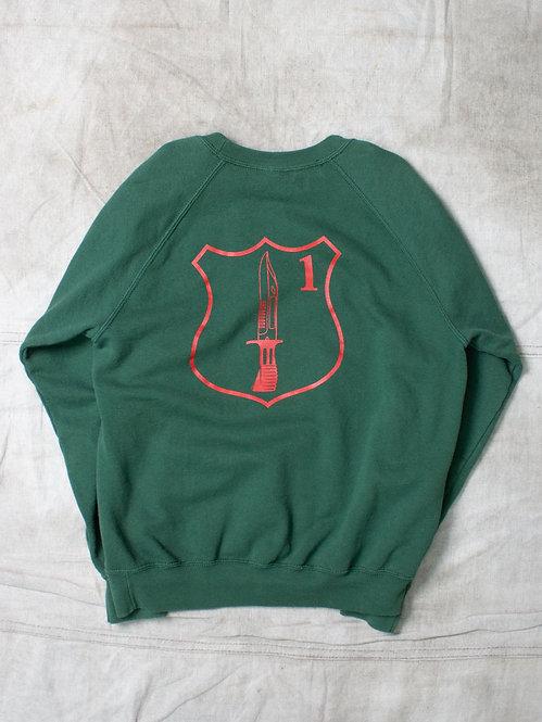 Vtg British Military Green Sweatshirt (S)