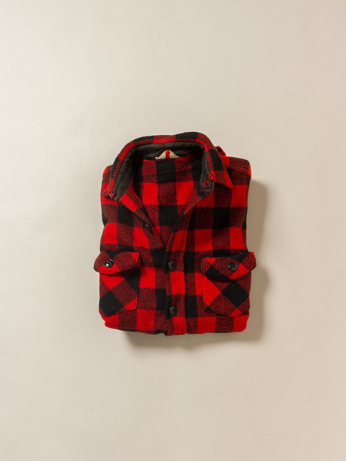 Vtg Buffalo Wool Plaid Shirt (S)