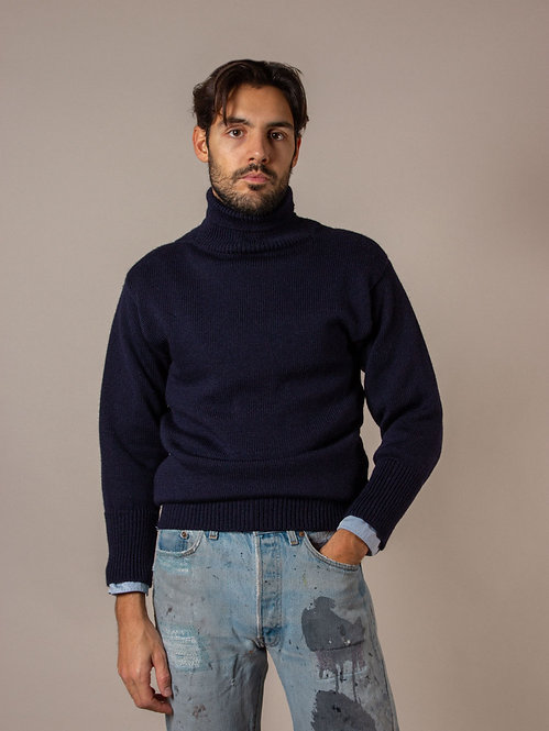 Royal Navy Submariner Rollneck in 100% pure wool. Original product made since WW2.