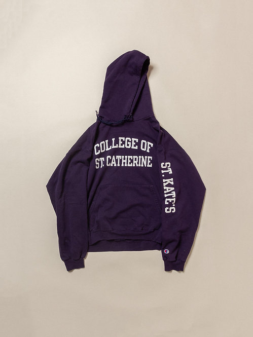 Vtg Womens Champion St Catherine Hoodie (L)