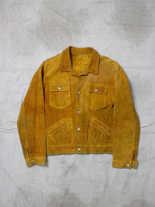 Vtg 1970s Suede Jacket (M)