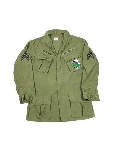 e479f237b Vintage US Army 60s Jungle Jacket Vietnam War 69th Armor Regiment ...