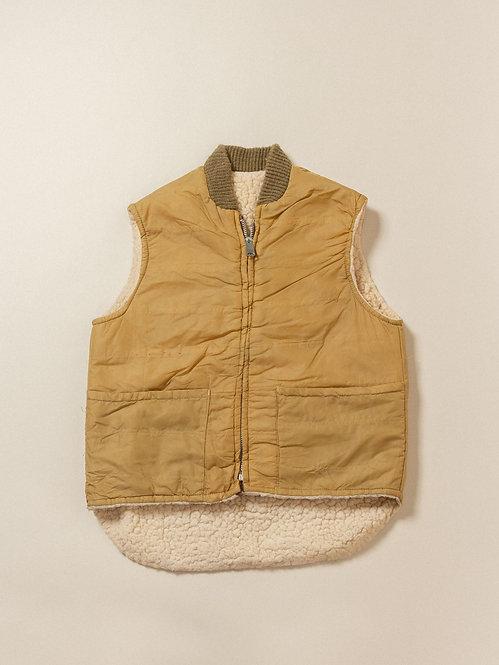Vtg Sand Golden Fleece Vest (M)