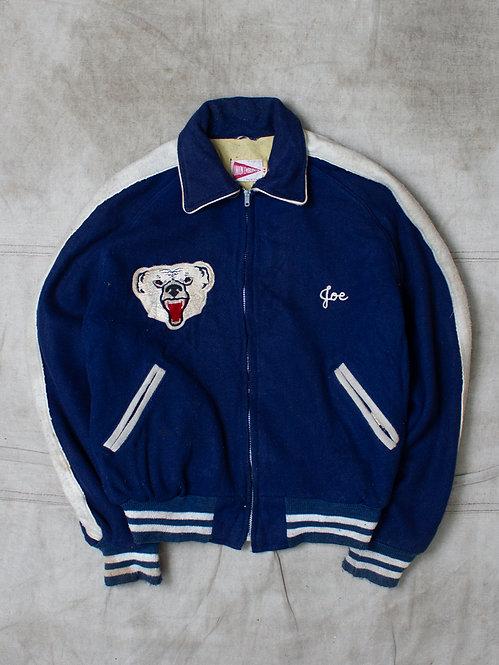 Vintage 1983 Union Made Letterman Wool Jacket (M)