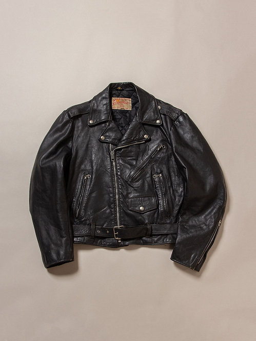 Vtg 1960s Excelled Leather Jacket (M)