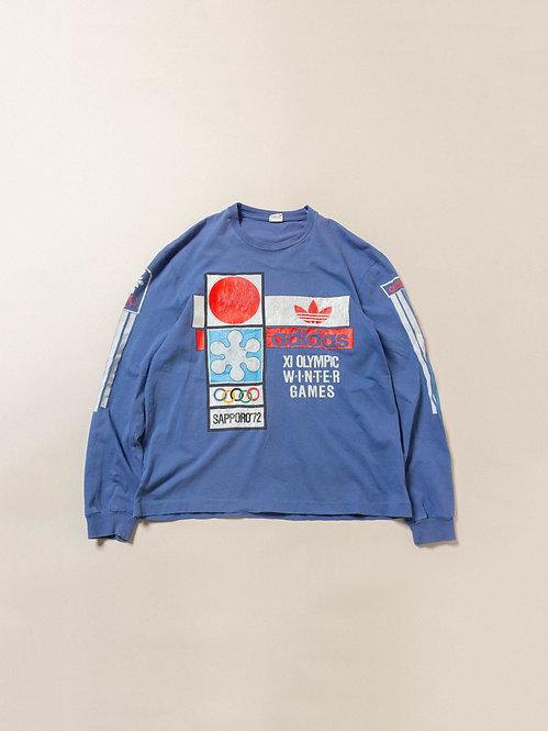 Vtg Adidas Winter Olympics 1972 Longsleeve Tee (M)