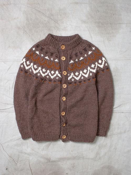 Vtg Chunky Knit Cardigan (L)