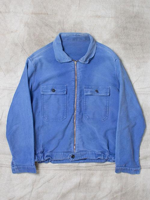Vtg French Moleskin Workwear Jacket (M)