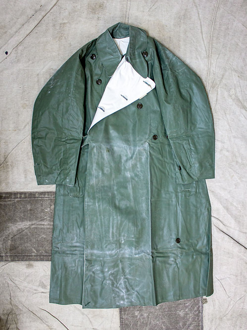 Deadstock 1950s French Army Reversible Dispatch Riders Raincoat
