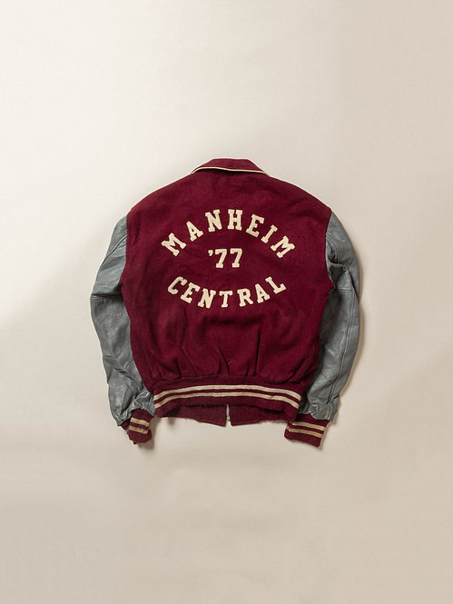 Vtg 70s Union Emblem Manheim Varsity Jacket (40)