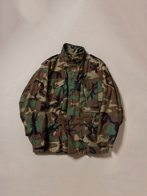 Vtg US Army M65 Camo Field Jacket (L-Regular)