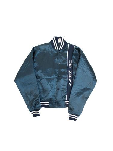 99505a029c4 1990s Vtg US Navy Nylon Sports Jacket ...