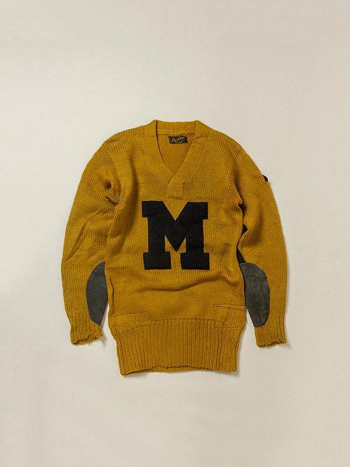 Vtg 1930s Rawlings Collegiate Sweater (S)