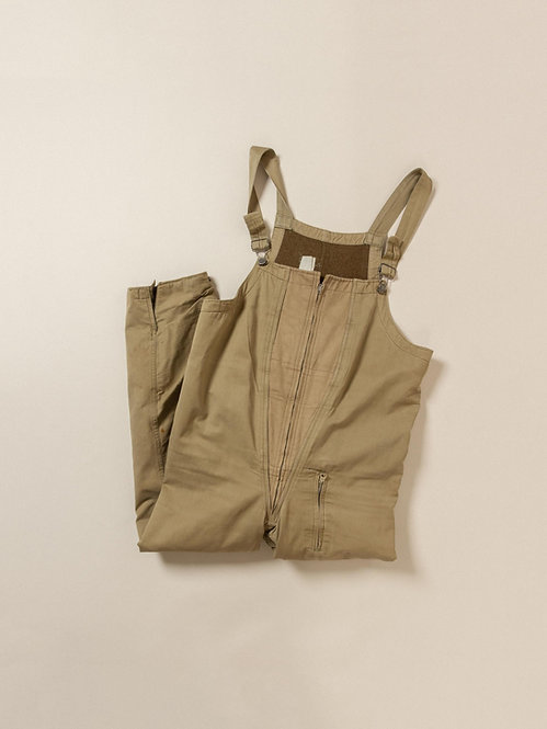 Vtg WWII US Army Wool Lined Tanker Overalls