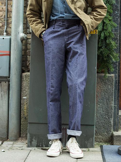 Deadstock Vintage French Navy denim pants