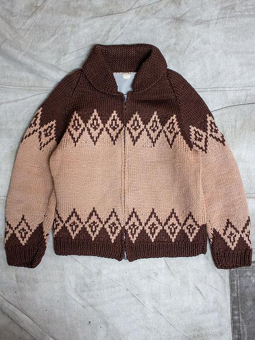 Vtg Hand Knit Cowichan Cardigan (M/L)
