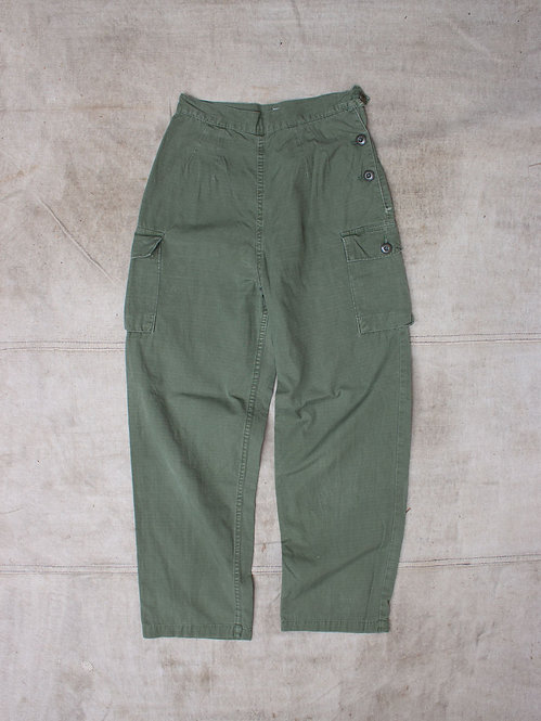 Vtg Womens Army Corps Nurse Rip Stop Trousers (26x26)