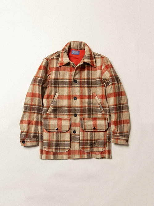 Vtg Pendelton Wool Plaid Jacket - Made in USA (S)