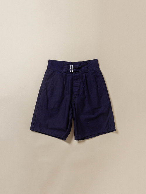 Vintage 1950s 1960s italian navy military chino shorts in navy blue