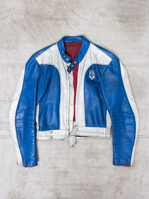 Vtg 70s Harro Kombi Motorcycle Jacket (S)