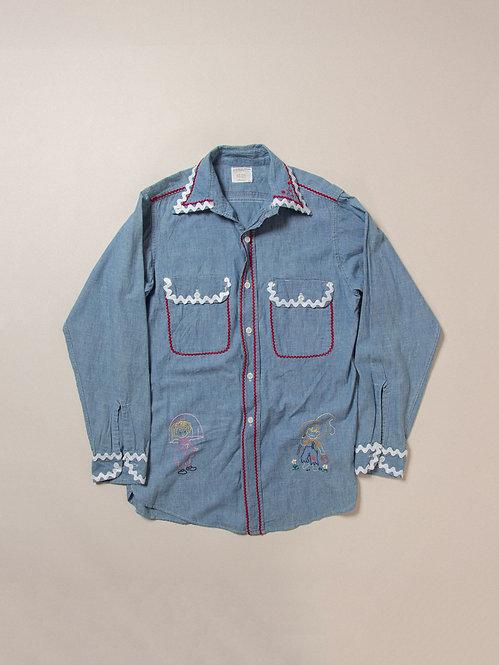 Vintage Embroidered Big Mac Chambray Shirt (M)
