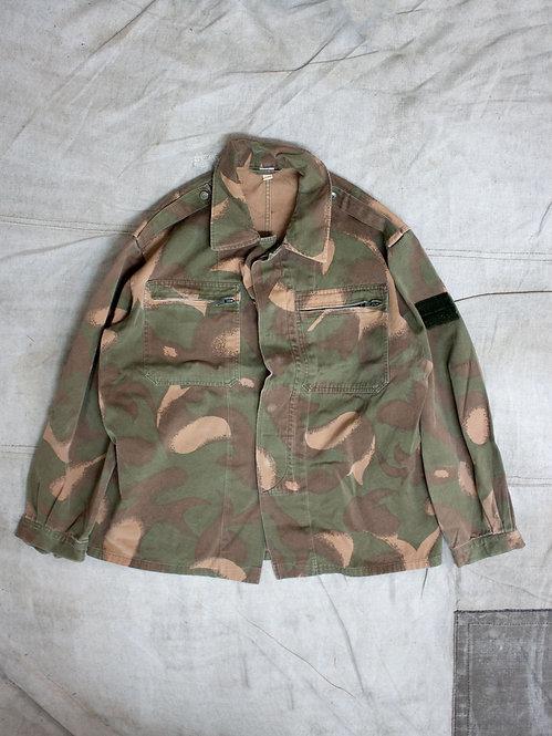 Vtg Hungarian Army Brush Camo Shirt