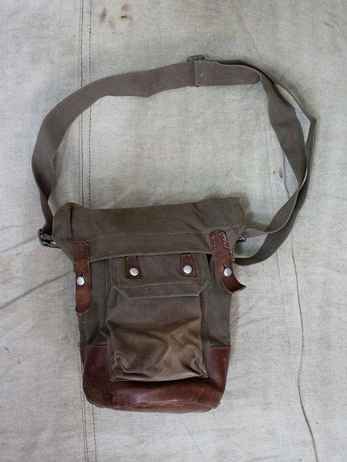 svensk gas mask väska swedish ww2 40s bag shoulder grey pouch satchel
