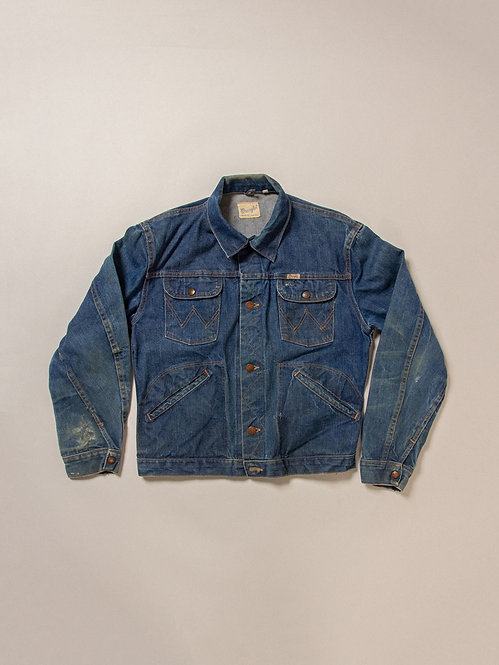 Vintage Wrangler Blue Bell Selvedge Denim Jacket (38)