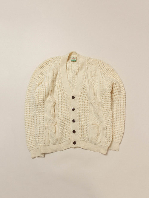 Vtg Handloomed Wool Cardigan (XL)