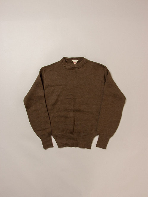 Vtg 1950s French Army Wool Jumper (XS/S)