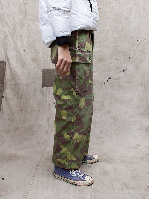Vtg 1960s Finnish Army Reversible Overpants