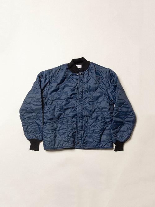 Vtg Blue Quilted Jacket (S)