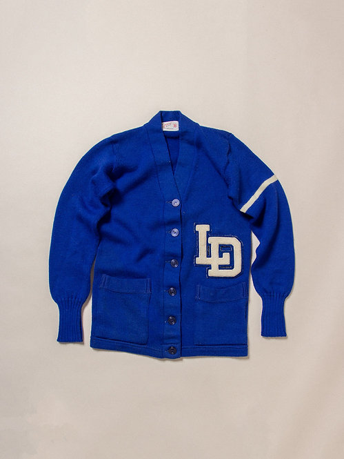 Vintage Womens Blue LD Cardigan (M)