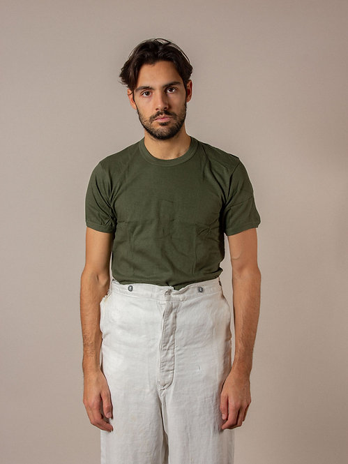Deadstock Olive Green Cotton Tee