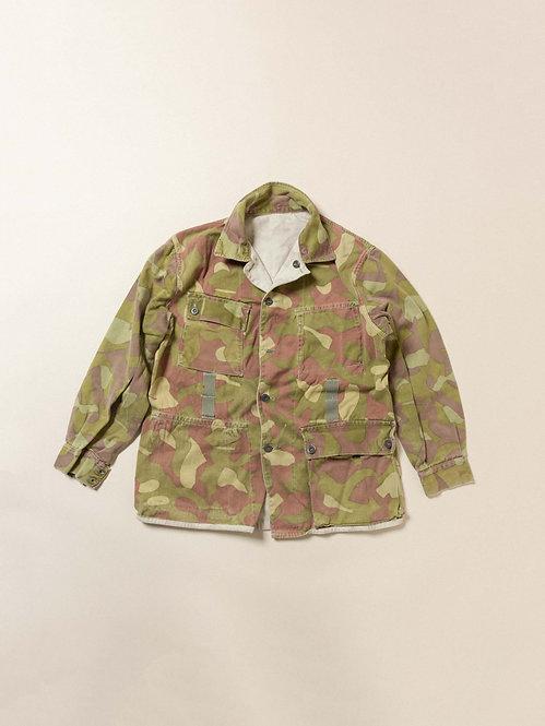 Vtg Finnish Army Reversible Camo Jacket (L)