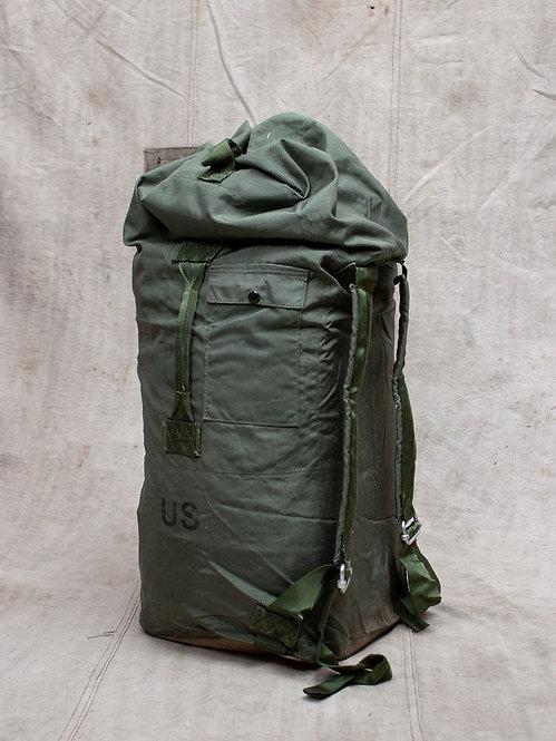 Vtg US Army Nylon Two Strap Duffel Bag