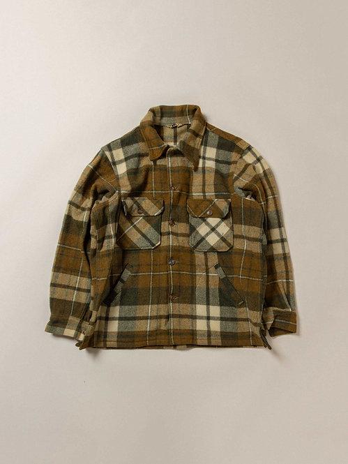 Vtg Woolrich Plaid Wool Overshirt (M/L)