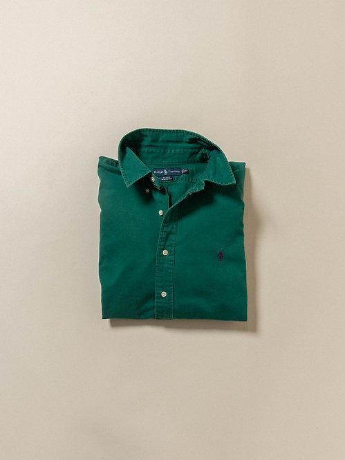 Vtg Ralph Lauren BD Green Shirt (XXL)