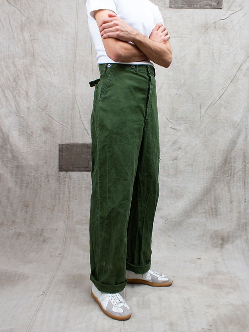 Vtg 1960s Swedish Army Trousers
